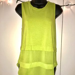 Lime Green Yellow Sleeveless Top by Michael Kors